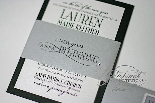 image detail for formal new years eve wedding invitation vintage new year eve wedding
