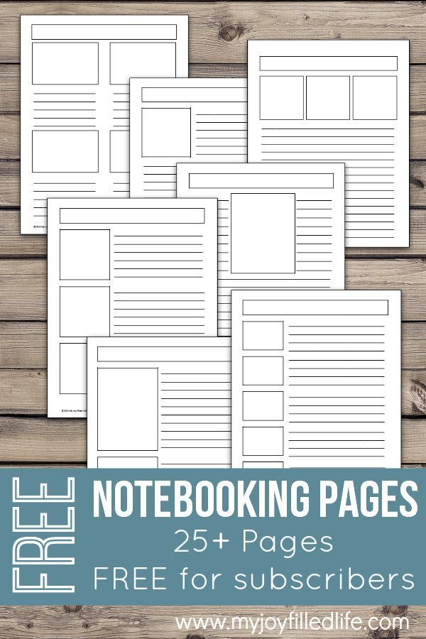 FREE Notebooking Pages Template, Free and Homeschool