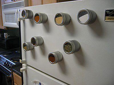 Google Image Result for http://4.bp.blogspot.com/_tfGC7tOlrdk/SPjJoFahI6I/AAAAAAAAF-U/070HkufmtKc/s400/spice-tins-on-refrigerator.jpg