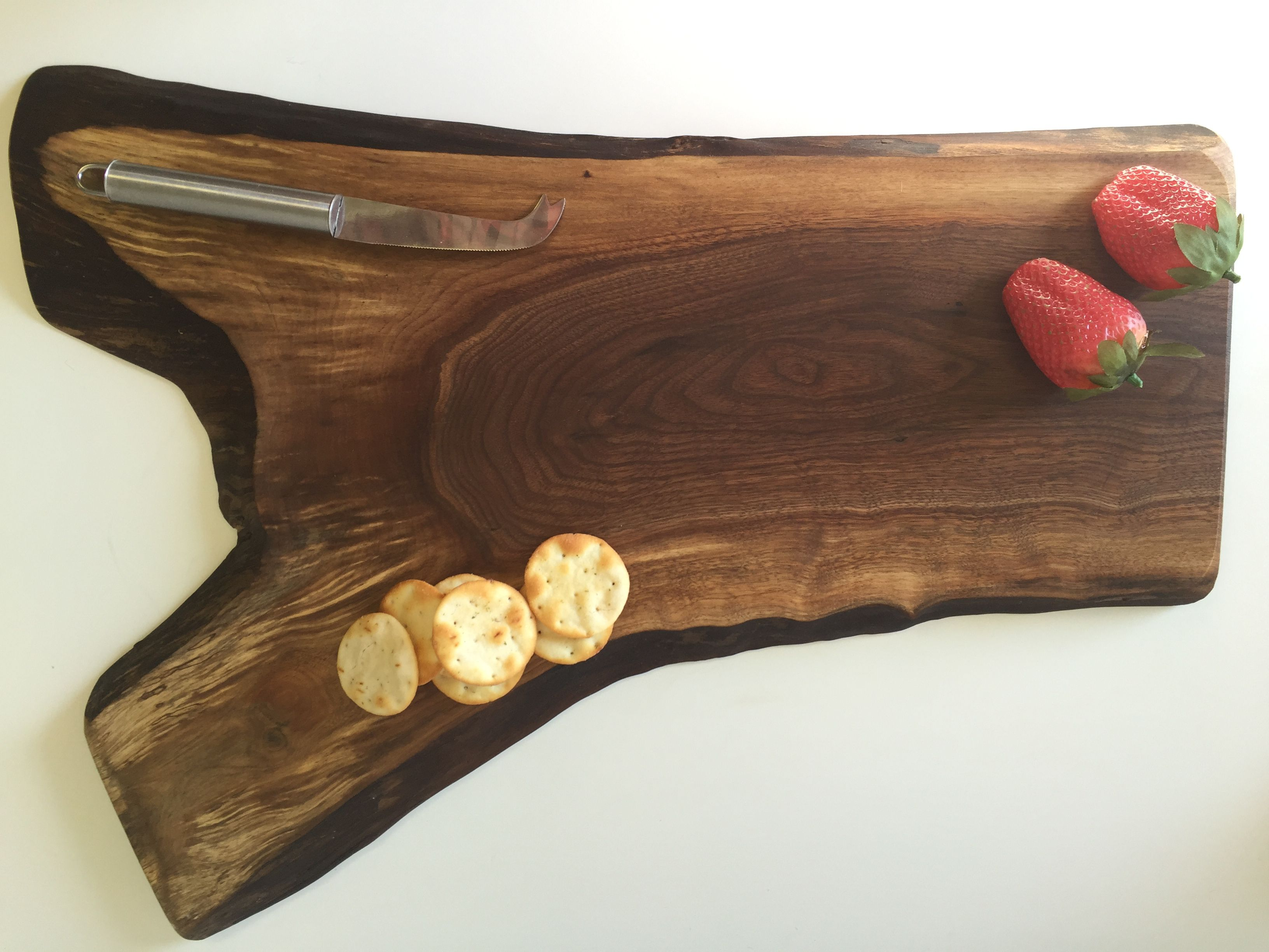 live edge cutting board wood serving board rustic serving trays canadian made gifts