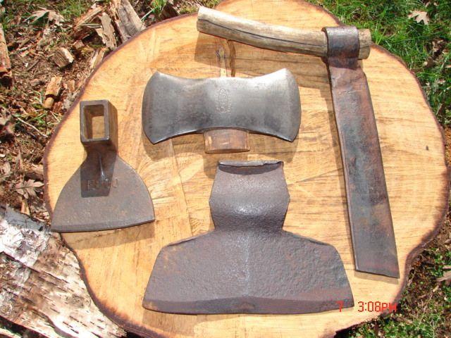 Log Cabin Tool Kit Shingle Froe Broad Hewing Axe Adze