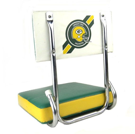 Vintage Green Bay Packers Stadium Seat. Green Bay By DrVintage