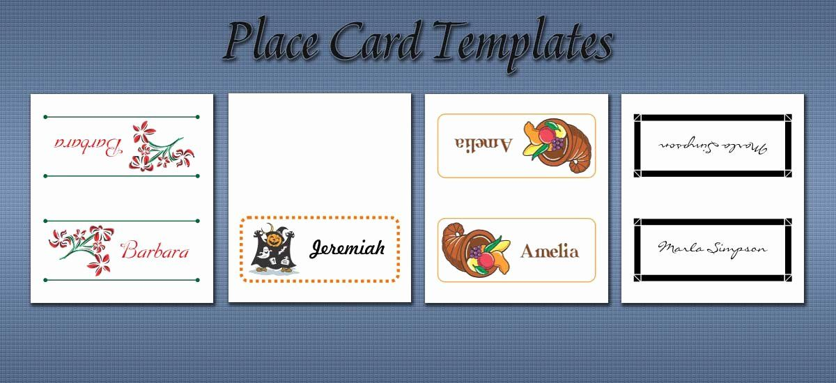Place Cards Template 6 Per Sheet Best Of Free Place Card Templates Place Card Template Free Place Card Template Card Templates Printable