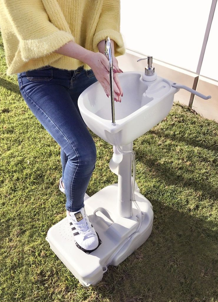 portable outdoor sink with 19l water