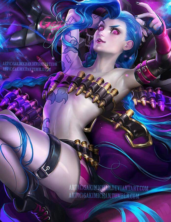 Sakimi chan Sakimichan art, Jinx league of legends