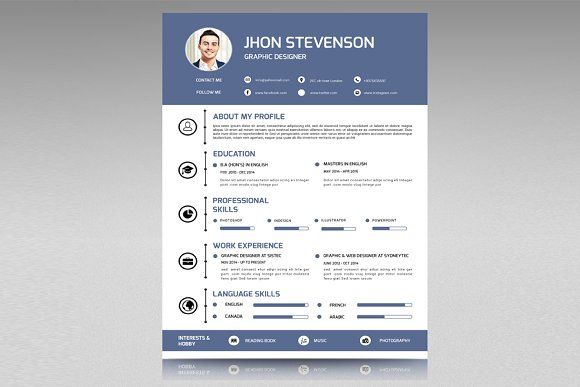 Resume with Cover Letter-V08 by Template Shop on @mywpthemes_xyz - apple pages resume templates