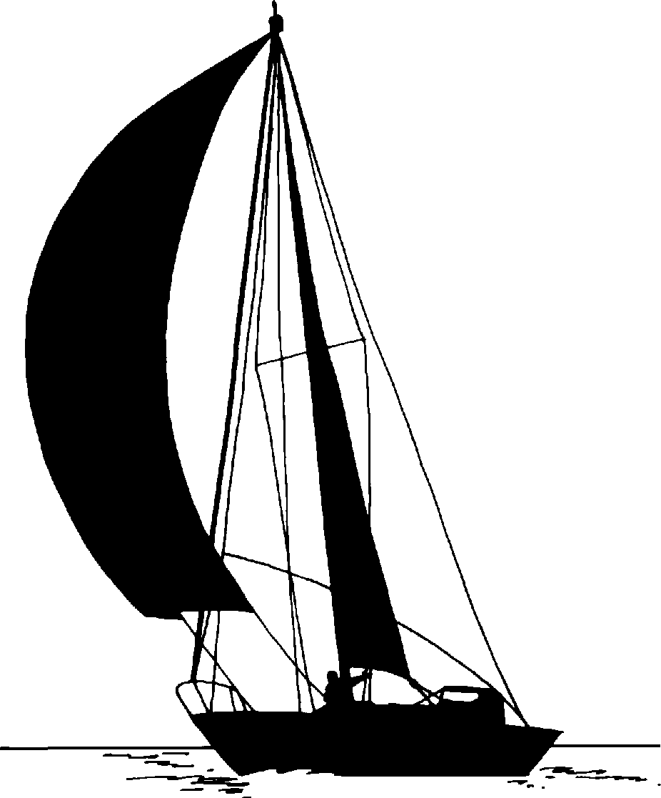 Line Drawing Yacht : Sail boat sihouettes image sailboat png art