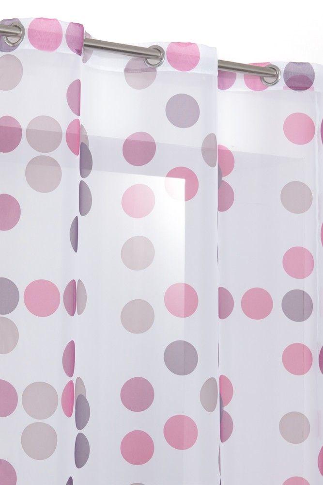 rideau prune et blanc transpaent rideau voilage multicolore a 6 oeillets blanc motif pois. Black Bedroom Furniture Sets. Home Design Ideas