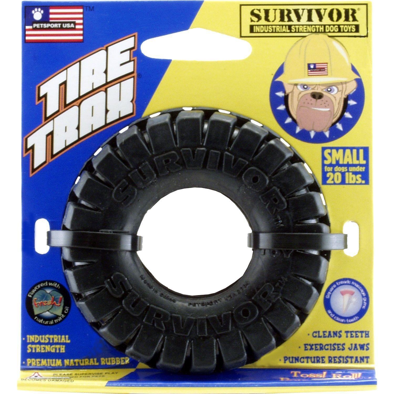 "Petsport USA 3"" Tire Trax Dog Toy"