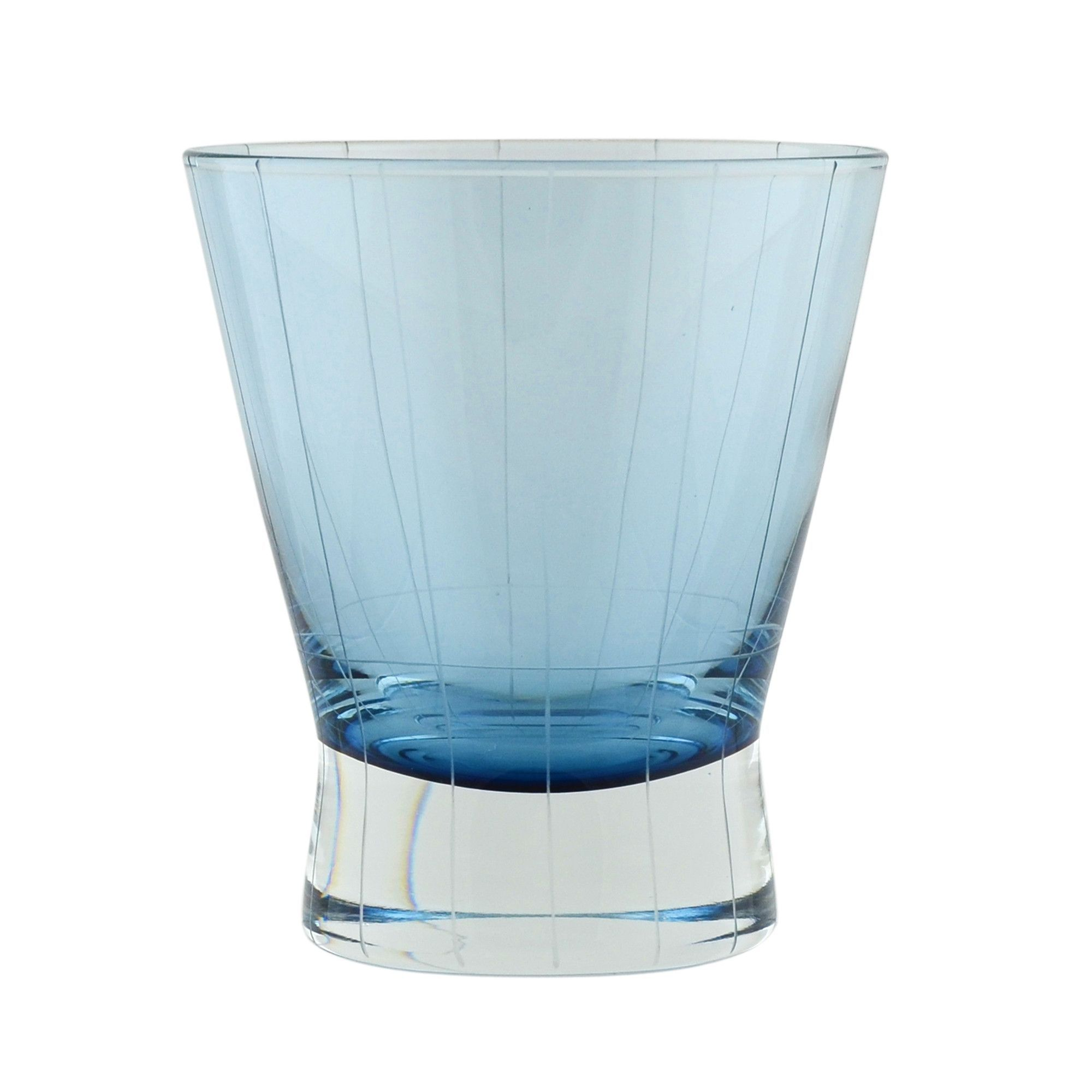Crete Etched 8 Oz. Double Old Fashioned Glass (Set of 6