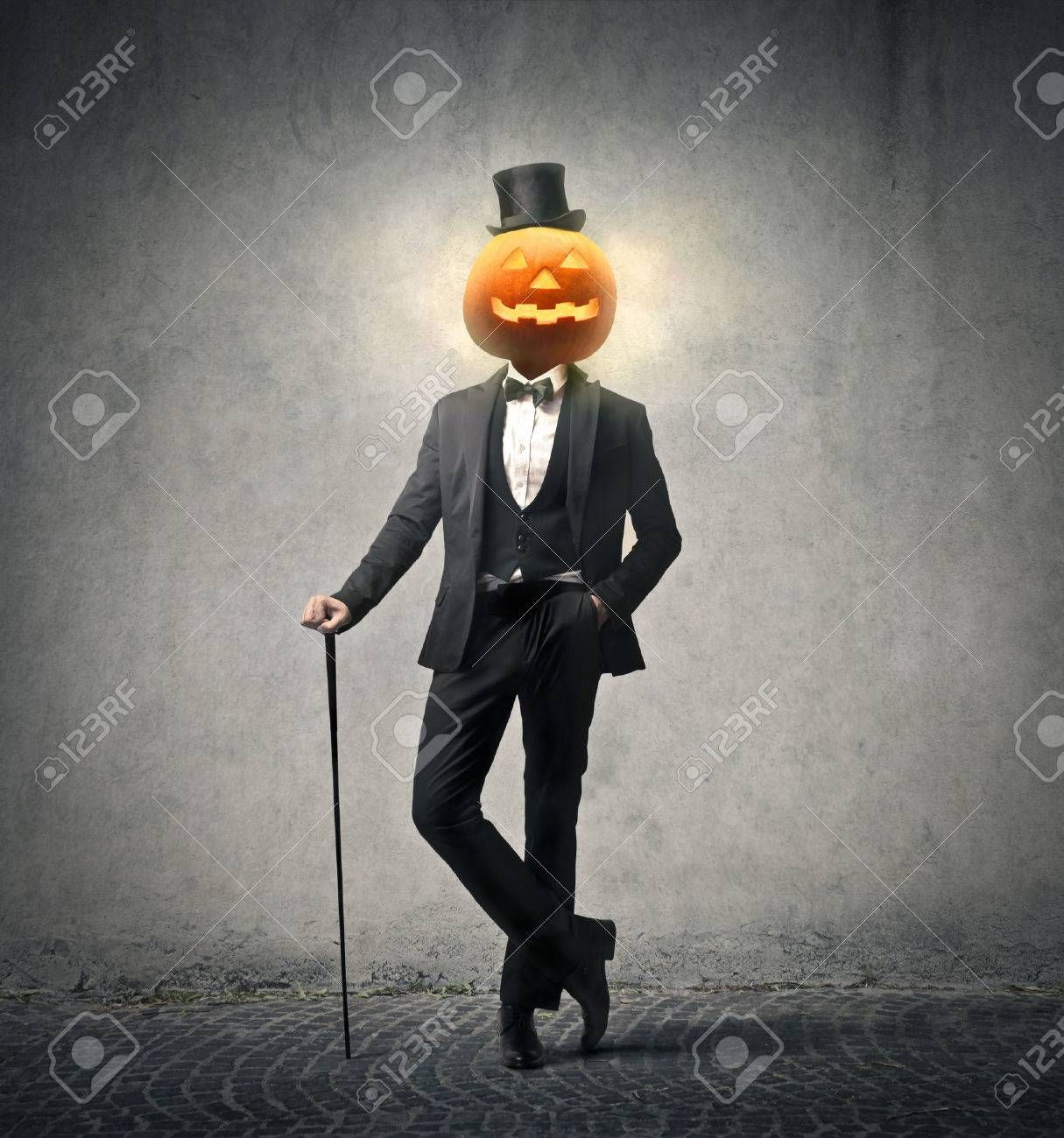 rich man with a pumpkin head , Ad, man, rich, head,