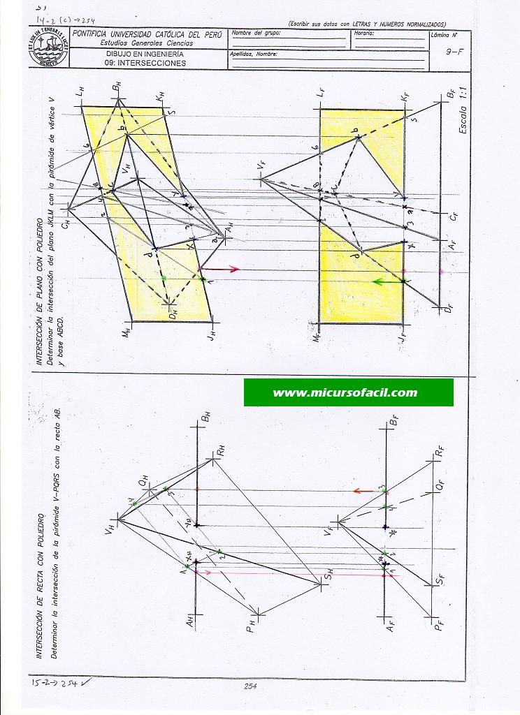 Dibinpolre172 Si1 Geometria Descriptiva Geometria Formularios
