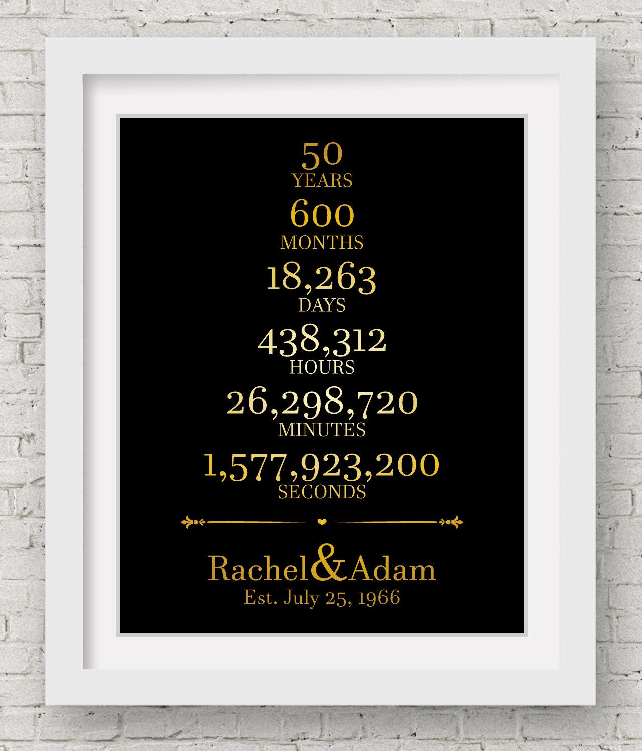 50th Wedding Anniversary Decorations 1st Anniversary Gift For Couple