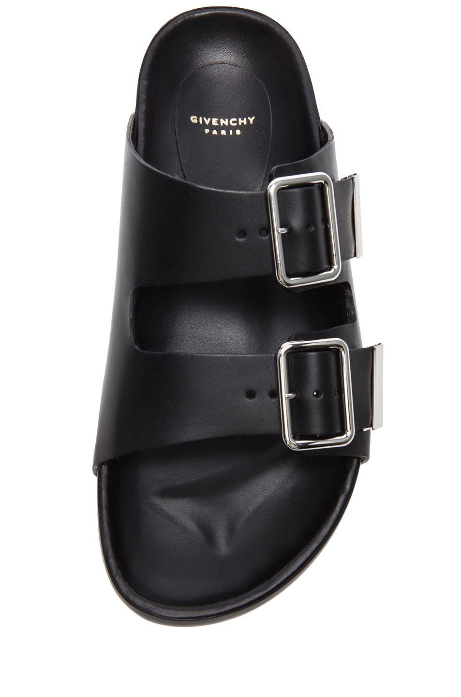 GIVENCHY Barka Casual Calfskin Leather Sandals