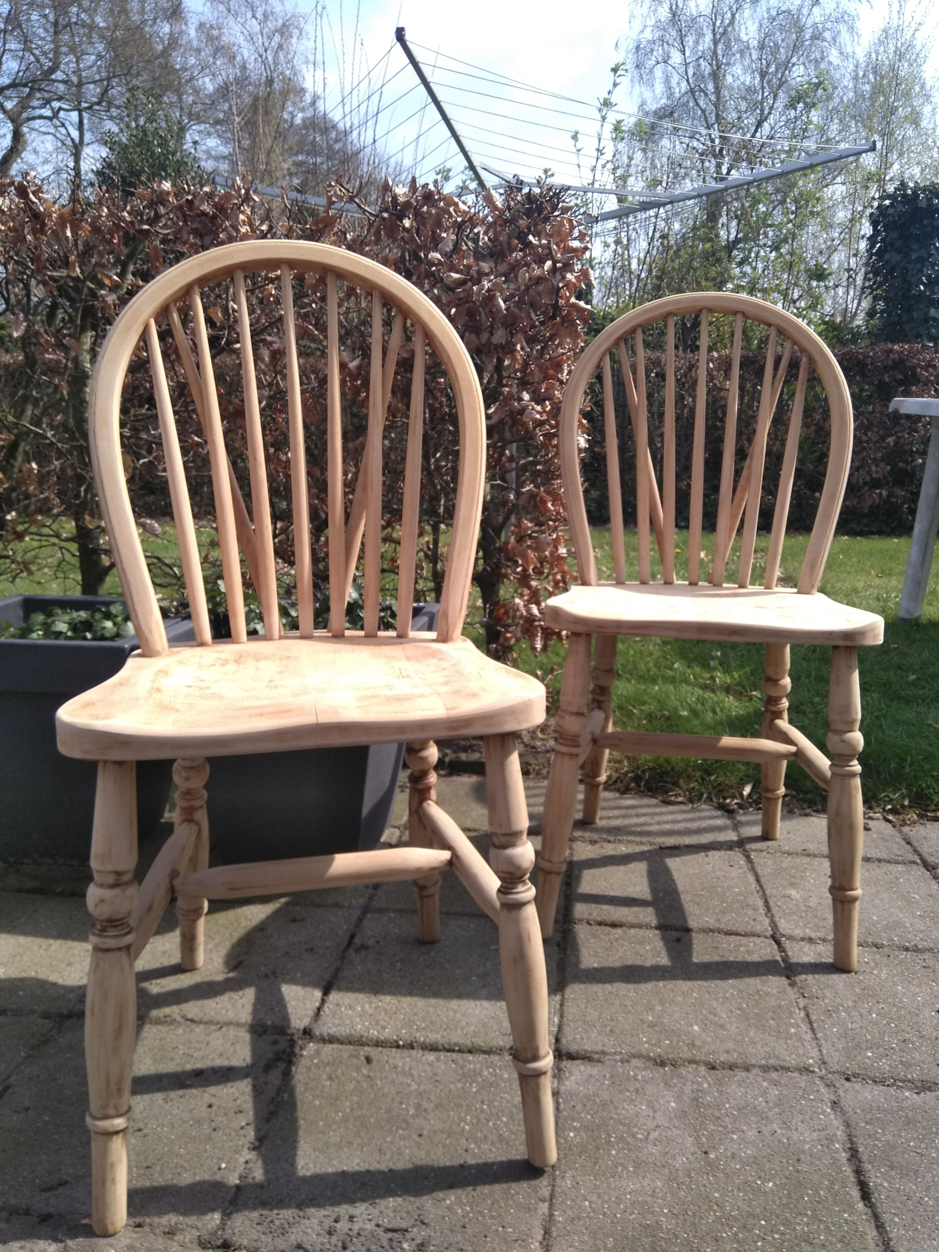 Wooden Dining Chairs After Sanding Them Diy