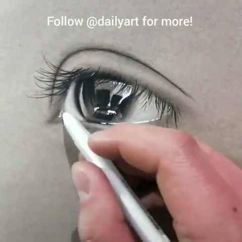 Great art by ID: Wj734846 (Douyin) #art #artvideos #sketch #drawing #eyesketch