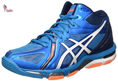 Asics Gel-Task, Chaussures de Volleyball Femme - Blanc (White/Powder Blue/Flash Coral 0147), 38 EU (5 UK)