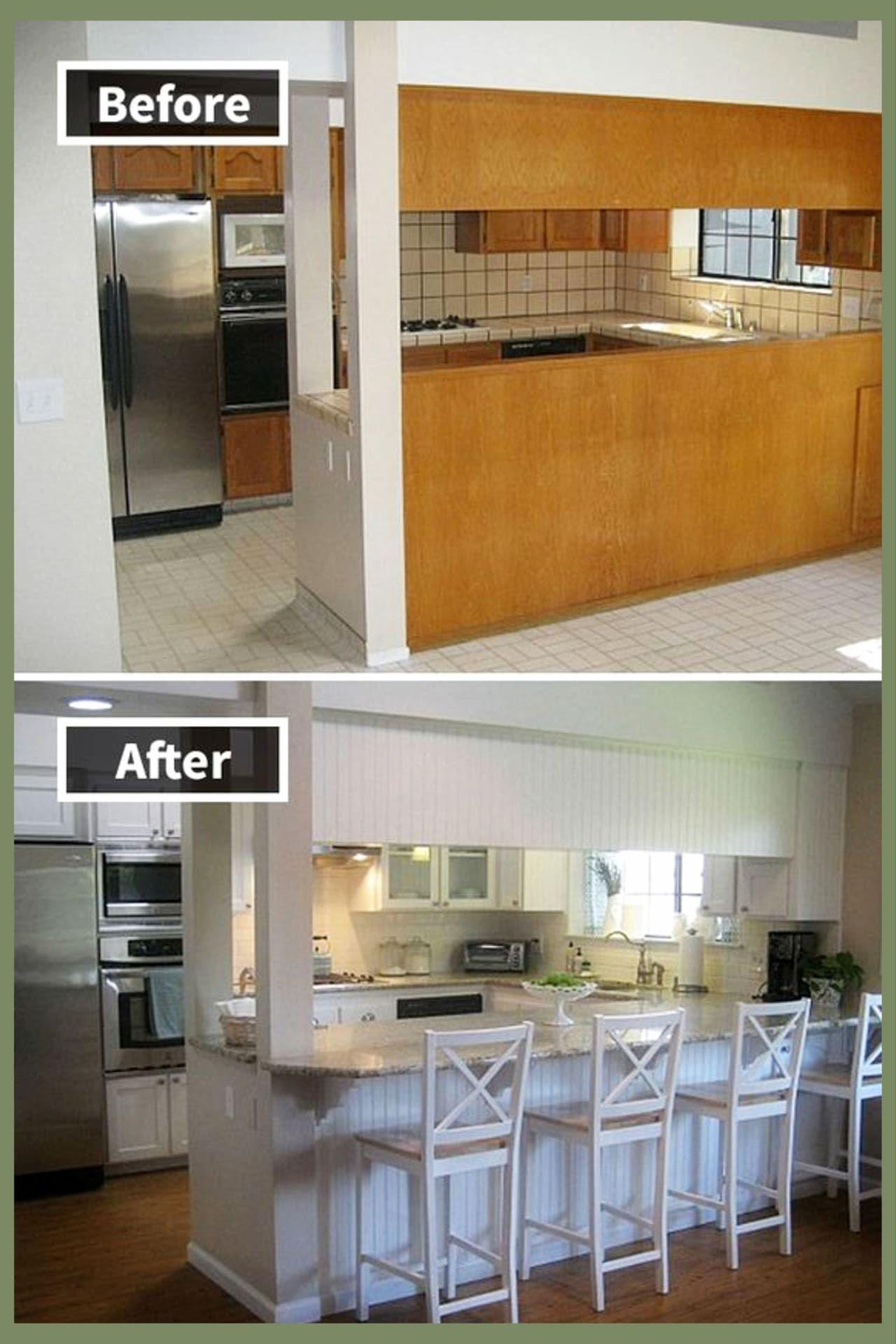 Kleine Küchenideen mit kleinem Budget - Vor und nach dem Umbau von Bildern kleiner Küchen - Clevere DIY-Ideen#bildern #budget #clevere #dem #diyideen #kleine #kleinem #kleiner #küchen #küchenideen #mit #nach #umbau #und #von #vor