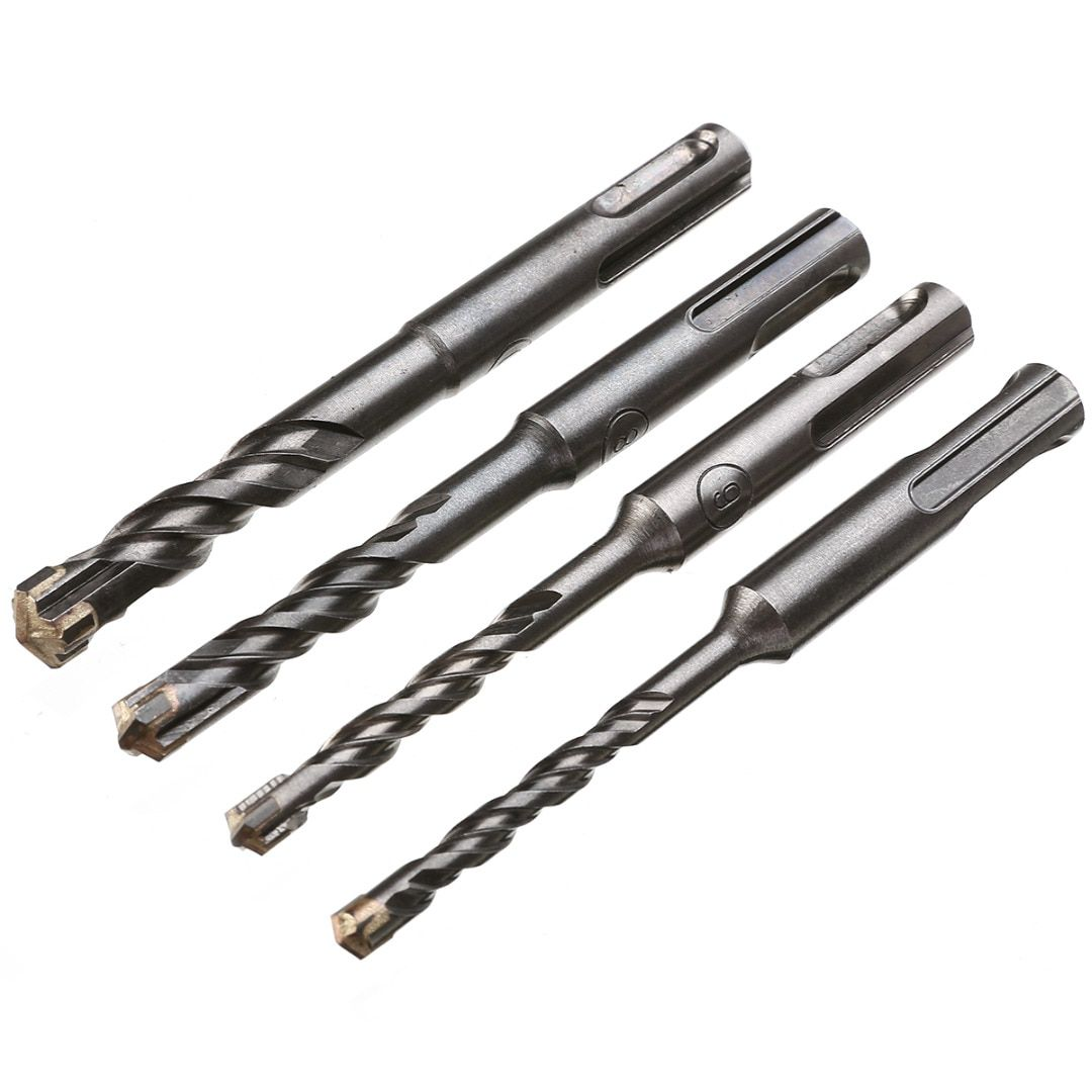 110mm 5 6 8 10 Mm Twist Drill Bit Saw Sds Plus Masonry Crosshead Twin Spiral Hammer Drill Bits For Woodworking Tool Hammer Drill Bits Hammer Drill Drill Bits