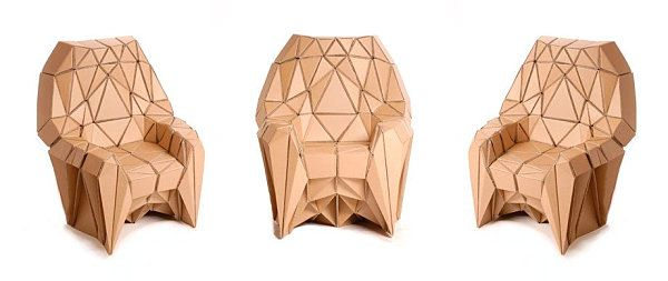 cardboard chair design triangle creative cardboard furniture design with the unique rh pinterest com cardboard chairs design inspiration furniture for your home