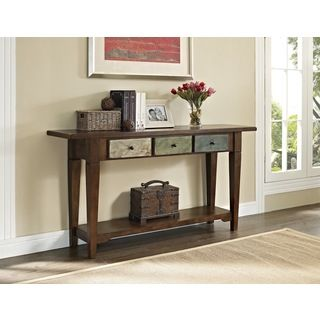 Entryway Table With Drawers ameriwood home hand-painted sage console table and drawers