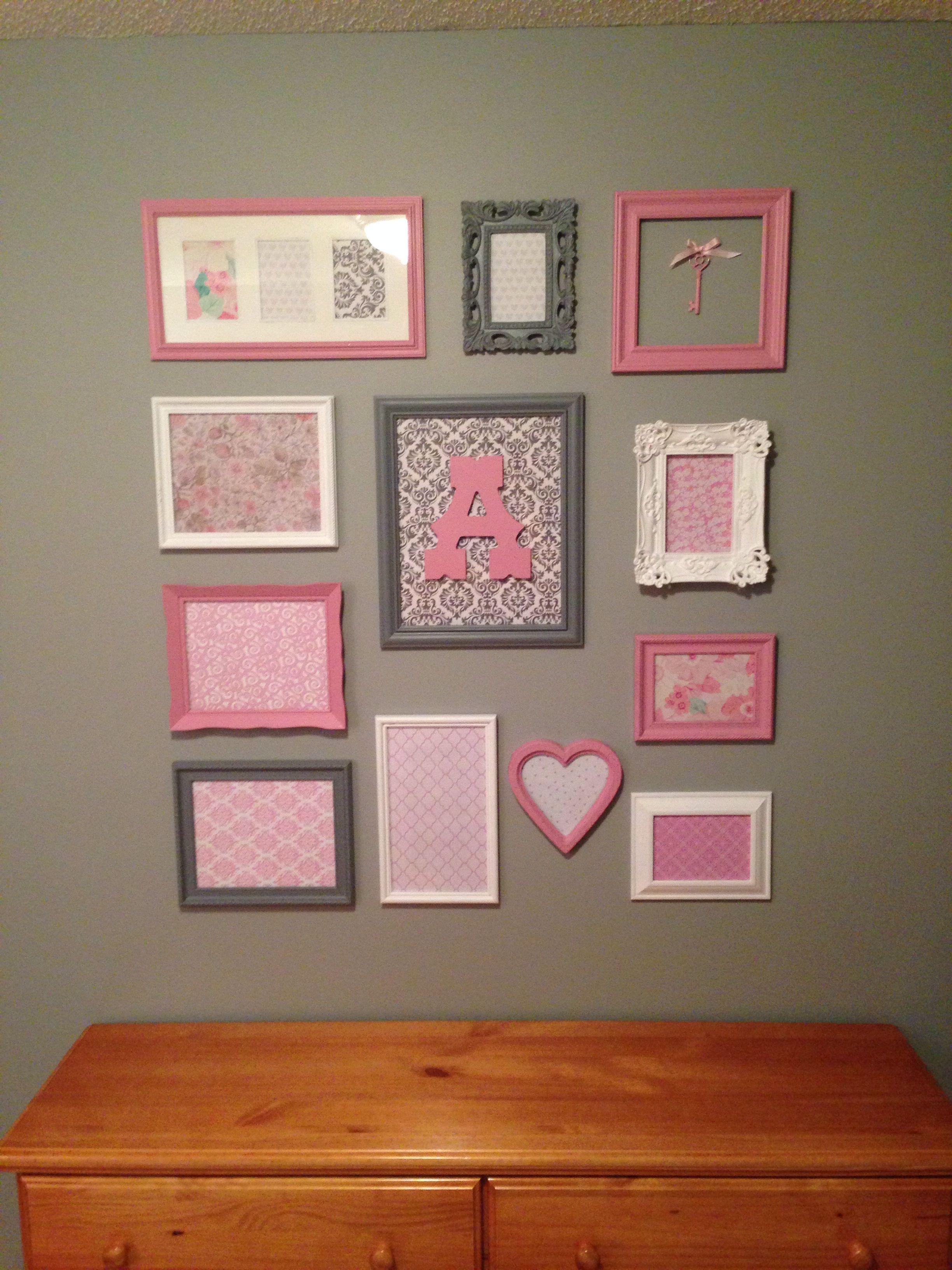 Diy Pink And Gray Nursery Frames So Proud Of Myself
