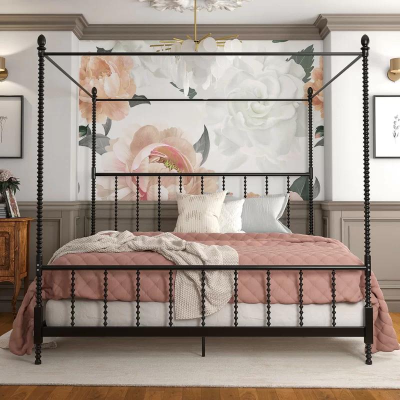 Karlee Metal Canopy Bed in 2020 Metal canopy bed, Queen