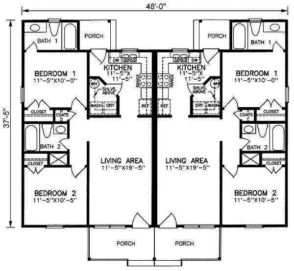 Picturesque Garage Apartment 43023pf: Duplex Plans, Duplex