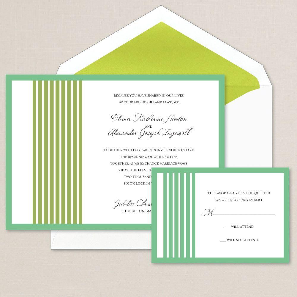 Striped Sensation Wedding Invitation | #exclusivelyweddings | #limewedding