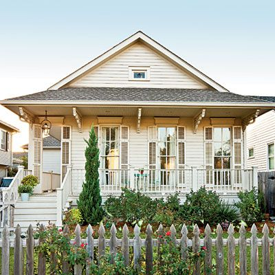 Charming Home Exteriors   Southern Living Love the clean fresh look of the  White House withOn the Hunt for Beautiful Home Inspiration    Southern living  . New Orleans Creole Cottage House Plans. Home Design Ideas