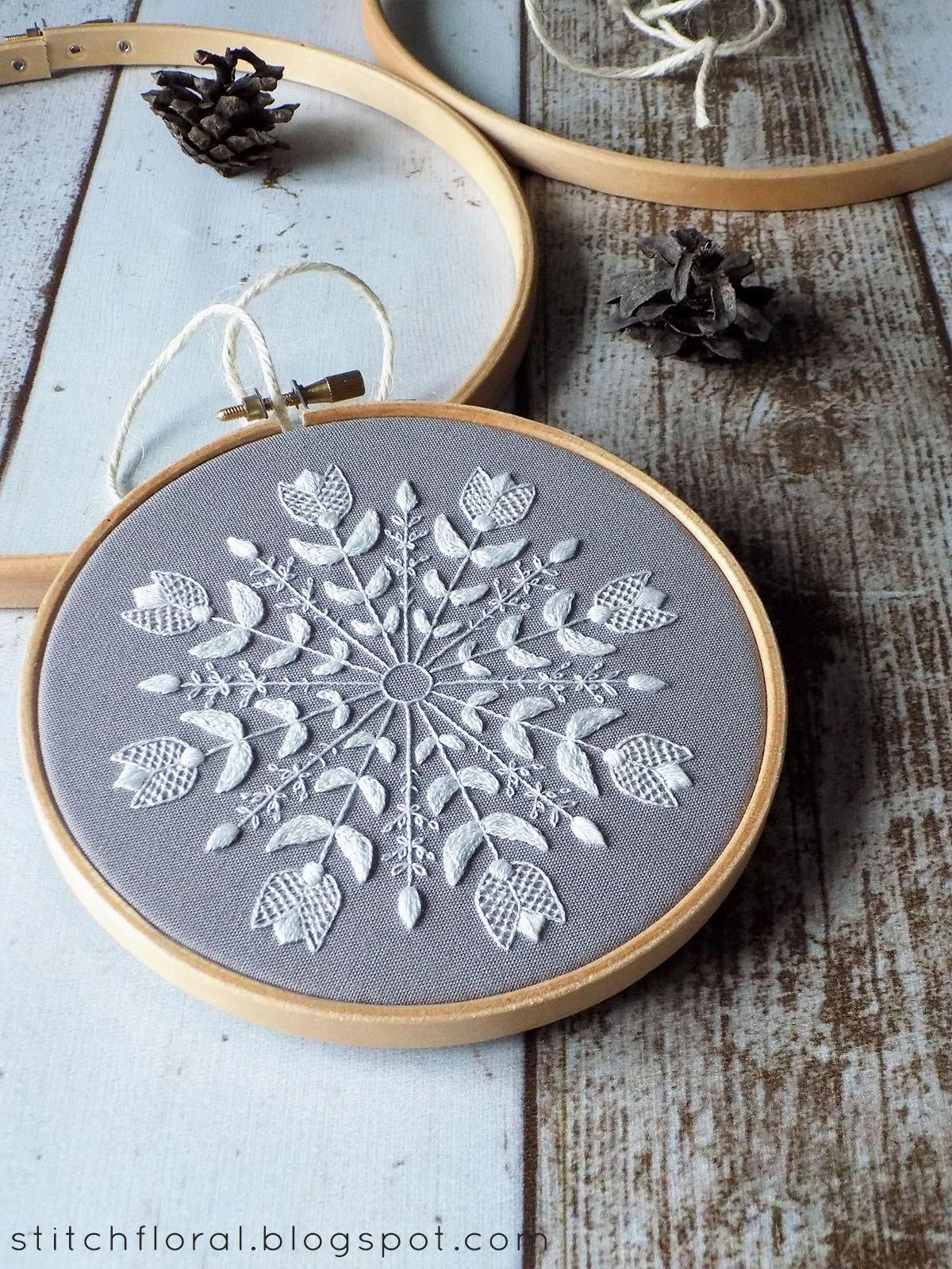 Snowflake Mandala Winter Inspired Embroidery Freebie