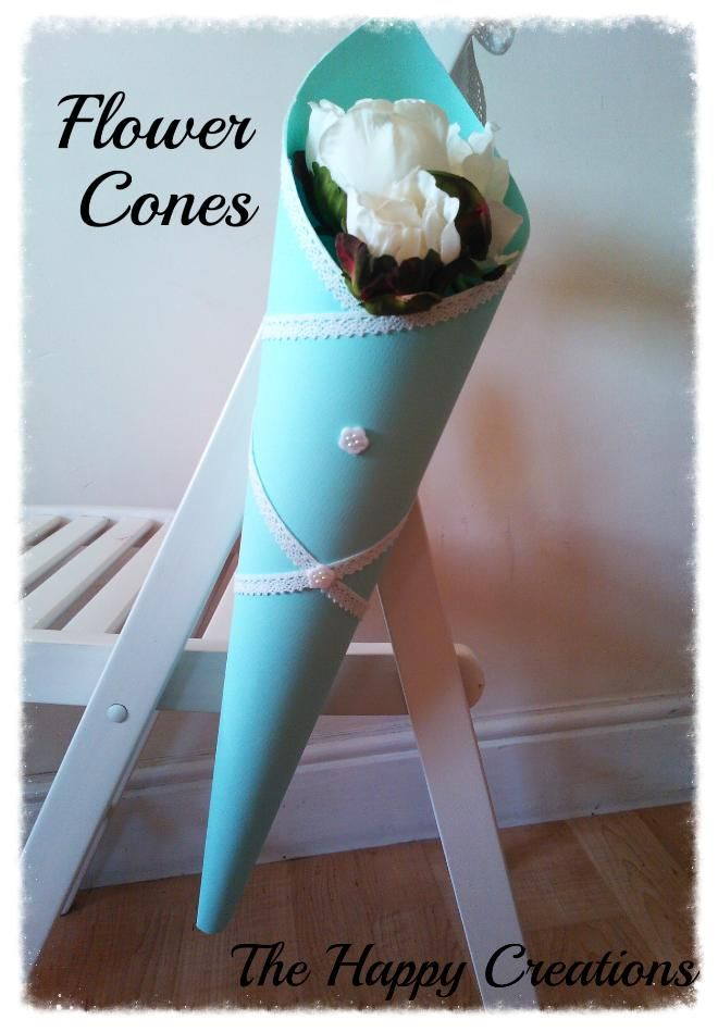 Flower cone paper cones flower and craft flower cone the happy creations wedding ceremony decorationswedding ceremoniespaper mightylinksfo Image collections