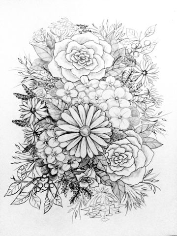 Retta S Free Svg S Free Art Work Flower Coloring Pages Coloring Pages Grayscale Coloring