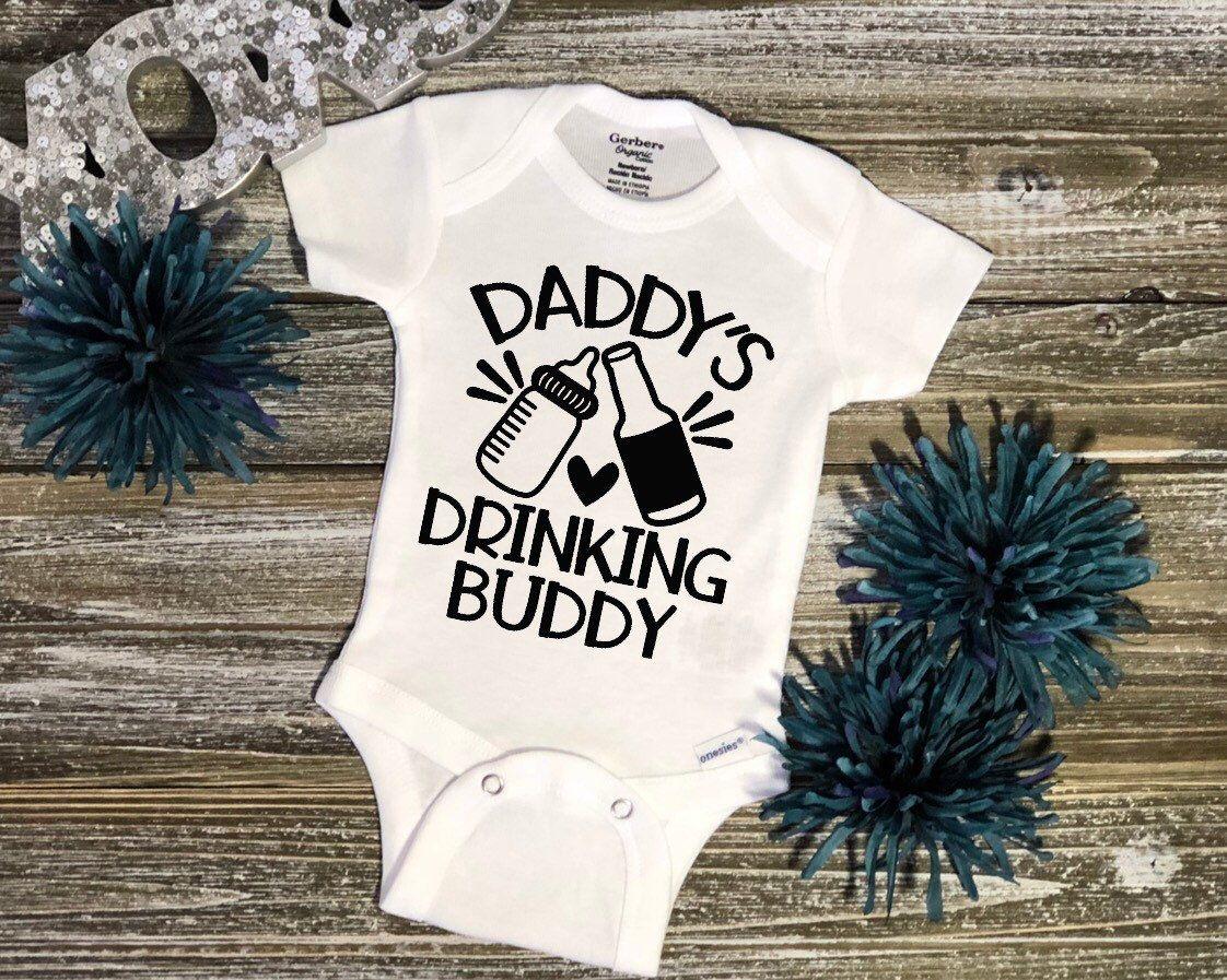 Drinking Buddies Twins Funny Cute Baby Grow Vest Bodysuit Newborn Gift Idea 0-3 Months