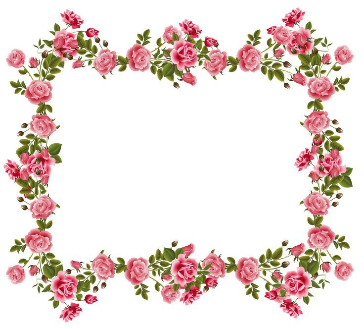 Awesome Flowers Frame Borders Clipart