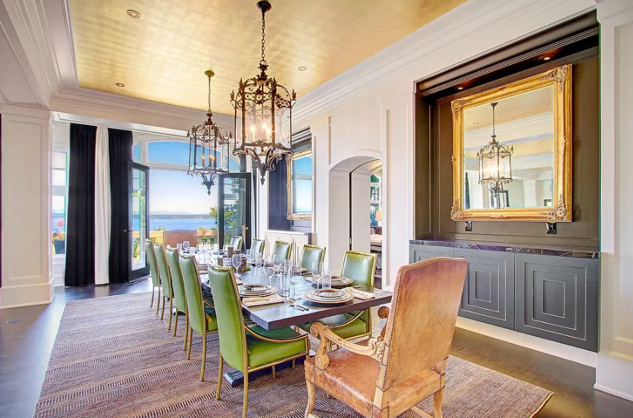 30 Stylish Dining Rooms with Tray Ceilings - PinZones in ...