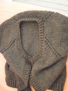 971b7bdc01 Tricô Sem Costura   Colete em tricô  de cima para baixo (técnica top down)