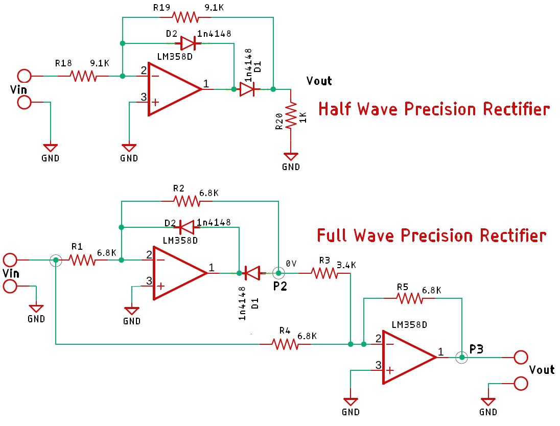 Half Wave And Full Wave Precision Rectifier Circuit Using