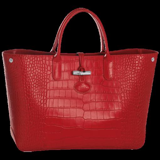 Cabas Roseau Croco - 1681858 | Longchamp France - Site officiel ...