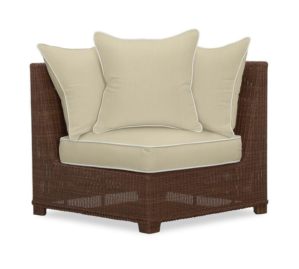 Palmetto All Weather Wicker Sofa Cushion Slipcover Sunbrella R