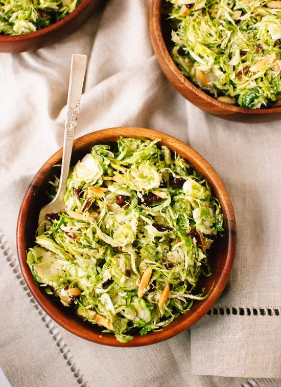 Honey Mustard Brussels Sprout Coleslaw