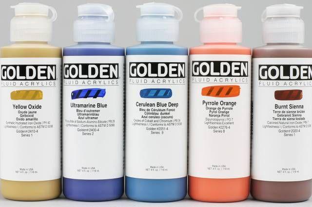 Golden Fluid Acrylics Assortiment Van Petervanginkel Nl