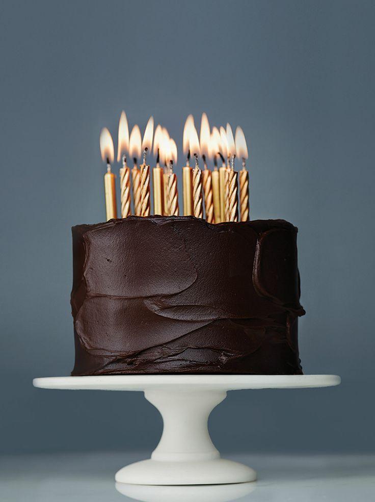 Dark Chocolate Birthday Cake