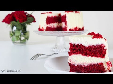 6 Red Velvet Cake Recipe طريقة كيكة الرد فلفت Youtube Desserts Vanilla Cake Cheesecake