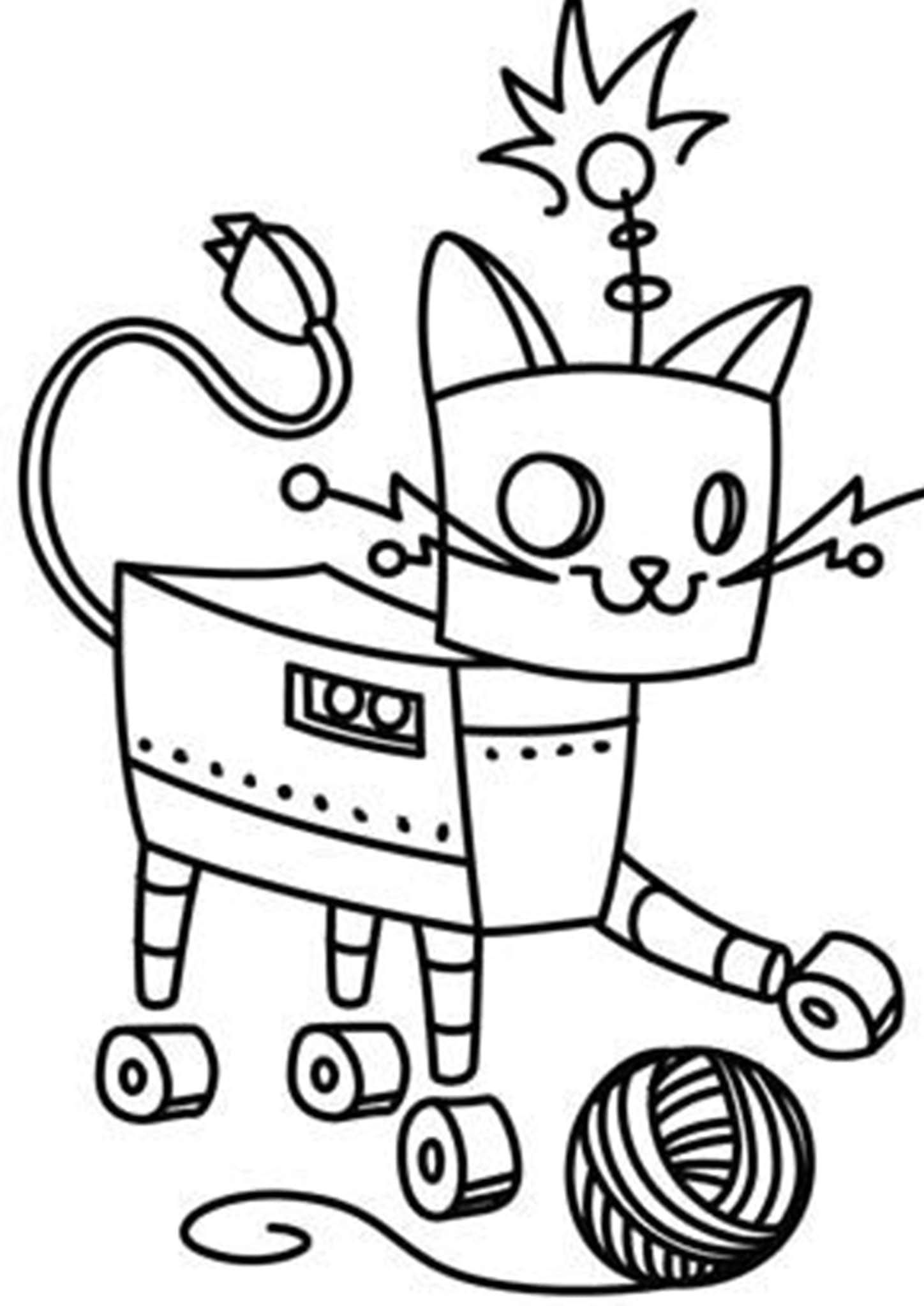 Free Easy To Print Robot Coloring Pages Robots Drawing Coloring Pages Pattern Coloring Pages