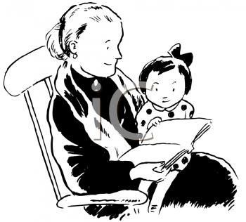 Grandparents Day Clipart Grandma Reading To Granddaughter Grandparents Day Clip Art Grandparents