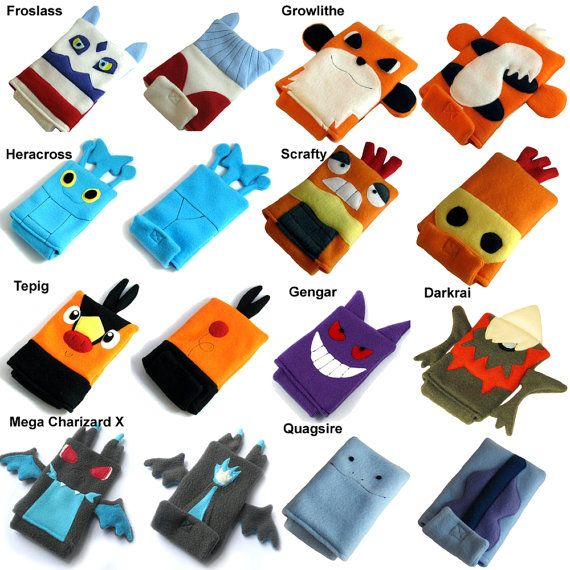 Pokemon nintendo ds case pouch fleece camera by for Housse 3ds pokemon