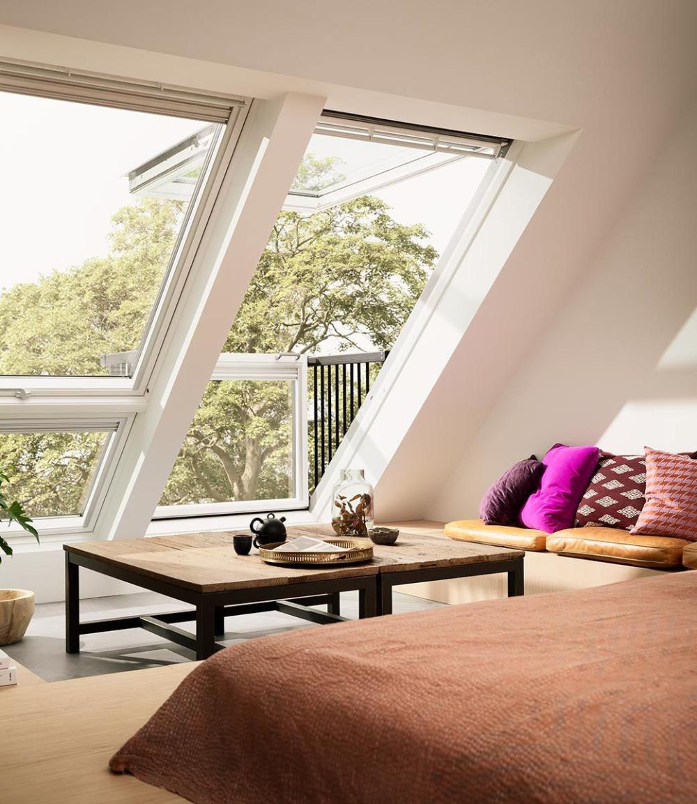 Velux Cabrio Roof Window Velux Balcony Skylight In 2020 Loft Spaces Velux Windows Loft Velux Skylights