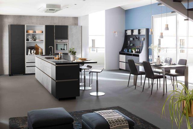 Cuisine Mobalpa  nouvelle collection 2017, innovation, électroménager - plan salon cuisine sejour salle manger