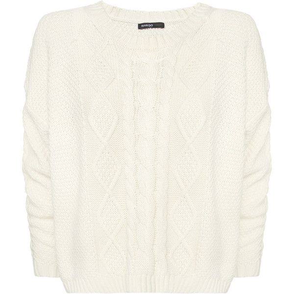 MANGO Knitted Jumper ❤ liked on Polyvore